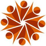 Logo för typ för lagarbete mänsklig Arkivfoto