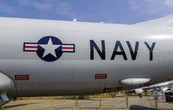 Logo för U.S.A.F. för USA-flygvapen på flygplan Fotografering för Bildbyråer
