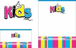 Logo för ungelärande mittskolutbildning, affärskort 2 x 3 5 reklamblad 4 25 x 5 5 royaltyfri illustrationer