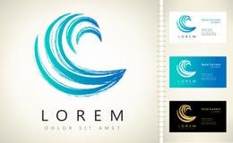 Logo för vågvektor Fotografering för Bildbyråer