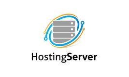 Logo för varande värd server Arkivbilder
