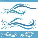 Logo för vattenvåg stock illustrationer