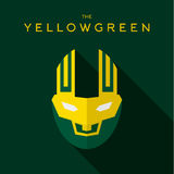 Logo för vektor för symbol för stil för lägenhet för maskeringshjältesuperhero Royaltyfri Bild