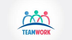 Logo för vektor för gemenskap för teamworkgruppfolk stock illustrationer