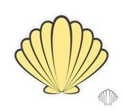 Logo för vektorhavsskal Arkivfoto