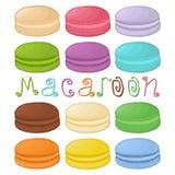 Logo för vektorsymbolsillustration för färgrika makron för hög Royaltyfri Fotografi