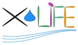 Logo för Xlife vattenfilter Royaltyfri Bild