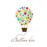 Logo für Ballonfirma Stockfoto
