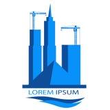 Logo für Bauunternehmen Lizenzfreies Stockfoto