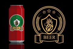Logo für Bier Lizenzfreies Stockbild