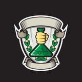 Logo für das wissenschaftliche Team Lizenzfreies Stockbild