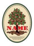 Logo für den Kaffee, der 2 verpackt lizenzfreie abbildung
