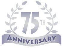 Siebzig-Fünfte Jahrestags-Fahne Stockfoto