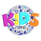 Logo für Entwicklung des Kindess-Organisation lizenzfreie abbildung