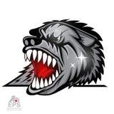 Logo für irgendwelche Sportteamwölfe stock abbildung