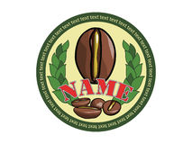 Logo für Kaffeeverpackung stock abbildung