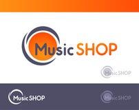 Logo für Musik GESCHÄFT lokalisiert auf weißem und dunkelgrauem blackground - Vektorillustration des Emblems mit Wasserzeichen vektor abbildung