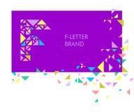 Logo F de lettre de triangle illustration stock