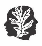 Logo faces stock image
