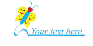 Logo, family, children, social work Stock Photos