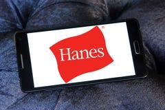 Hanes logo. Logo of fashion company Hanes on samsung mobile stock image