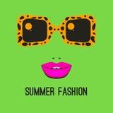 Logo fashion sunglasses Stock Photography