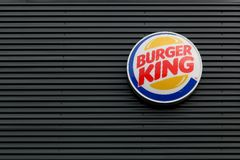 Logo of the fast food chain Burger King Stock Photography