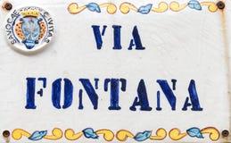 Logo fatto a mano Fotografia Stock