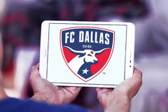 Logo FC Dallas Soccer Club stockbilder