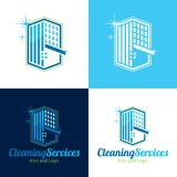 Cleaning Services Icon and Logo - Vector Illustration royalty free stock images
