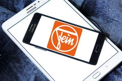 Fein company logo. Logo of Fein company on samsung mobile. Fein GmbH is a manufacturer of high-end power tools Royalty Free Stock Images