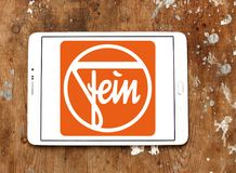 Fein company logo. Logo of Fein company on samsung tablet on wooden background.  Fein GmbH is a manufacturer of high-end power tools Royalty Free Stock Images