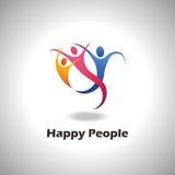 Logo felice della gente Fotografia Stock