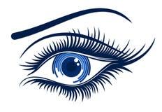 Logo female eye. The Logo of female blue eye Stock Images