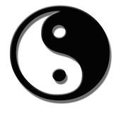 Logo Feng Shui. Yin and Yang Stock Images