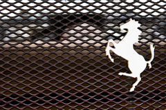 Logo of Ferrari horse on a cowl Stock Image