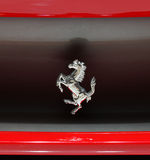 Logo of Ferrari horse on Ferrari 458 Italia car Stock Photos