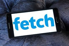 Fetch TV logo. Logo of Fetch TV on samsung mobile. Fetch TV is an Australian IPTV provider that delivers a subscription television service over a user`s regular stock photos