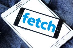 Fetch TV logo. Logo of Fetch TV on samsung mobile. Fetch TV is an Australian IPTV provider that delivers a subscription television service over a user`s regular royalty free stock images