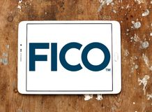 FICO data analytics company logo. Logo of FICO company on samsung tablet. FICO is a data analytics company Royalty Free Stock Photography