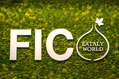 Fico Eataly World italian food store logo green moss musk on background Royalty Free Stock Image