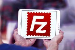 FileZilla application logo. Logo of FileZilla application on samsung tablet. FileZilla is a free software, cross platform FTP application, consisting of Royalty Free Stock Images