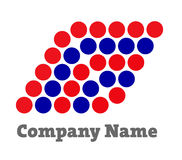 Logo for Financial Companies. Red dots logo in letter F for business, financial, finance Stock Photo