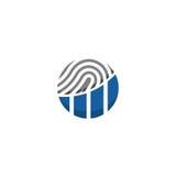 Logo finanziario dell'impronta digitale Fotografia Stock