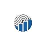 Logo finanziario dell'impronta digitale Immagini Stock