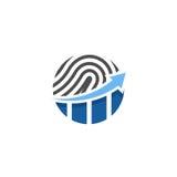 Logo finanziario dell'impronta digitale Fotografie Stock Libere da Diritti