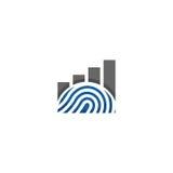 Logo finanziario dell'impronta digitale Immagine Stock Libera da Diritti
