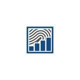 Logo finanziario dell'impronta digitale Fotografia Stock Libera da Diritti