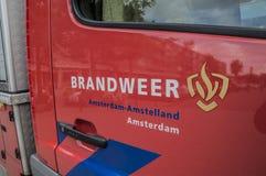 Logo Fire Department Amsterdam The Nederland royalty-vrije stock afbeeldingen
