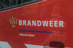 Logo Fire Department Amsterdam The Países Baixos imagens de stock